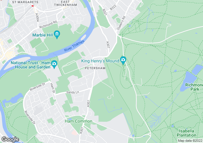 Map for Bute Avenue, Petersham, Richmond TW10 7AX