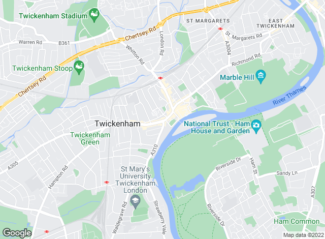Map for Gascoigne-Pees, Twickenham