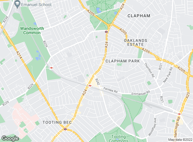 Map for Aspire, Balham