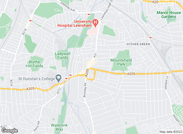 Map for Mann Countrywide, Catford