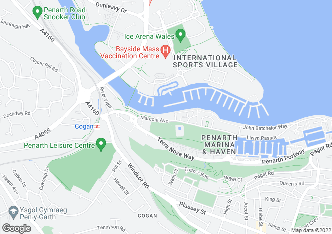 Map for Ty Devonia, Chandlers Quay, Penarth Marina