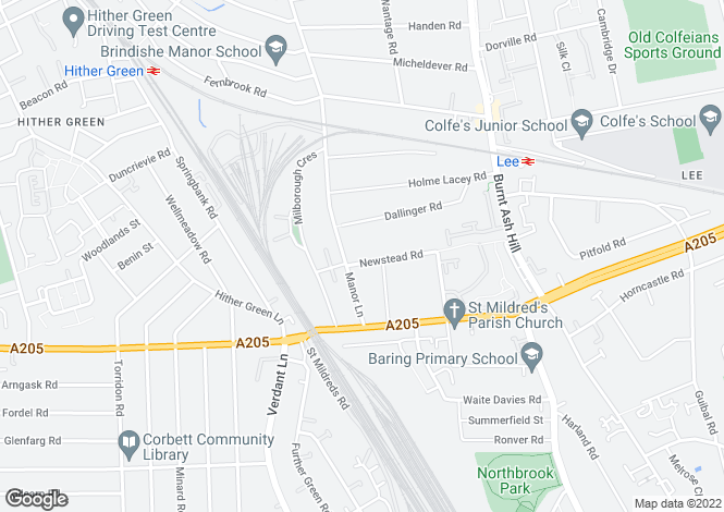 Map for Newstead Road, Hither Green, SE12 0TB