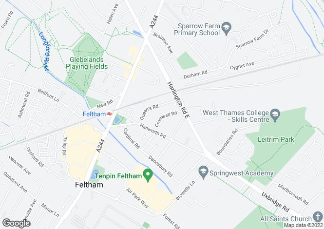 Map for Cromwell Road, Feltham