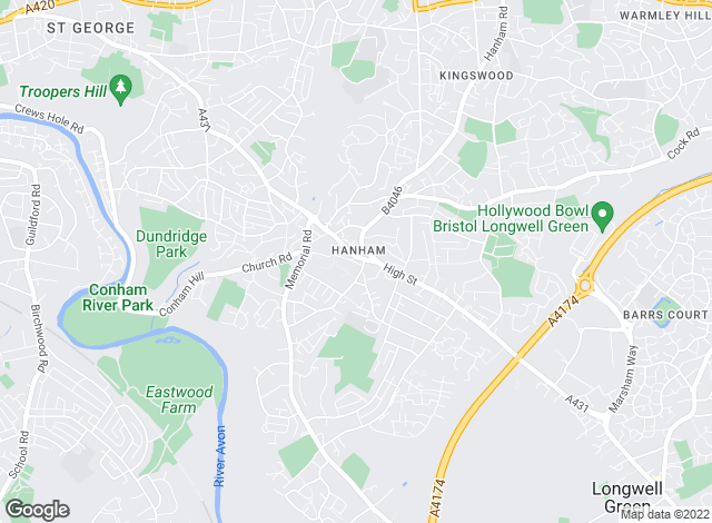 Map for C J Hole, Hanham