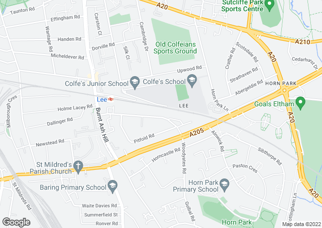 Map for Woodyates Road, Lee, SE12 9JQ