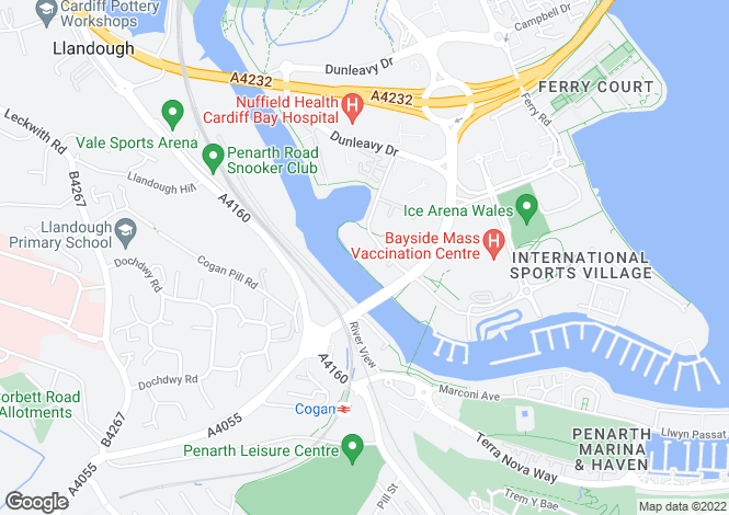 Map for CARDIFF BAY, Victoria Wharf