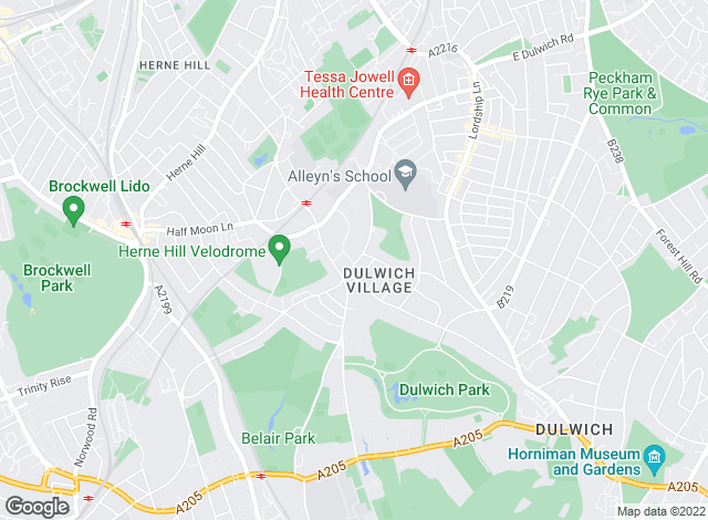Map for Spencer Kennedy , Dulwich Village