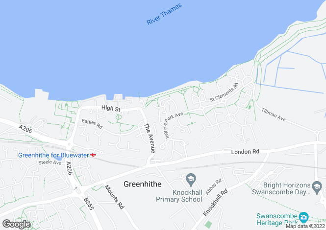 Map for Meriel Walk, GREENHITHE, Kent, uk