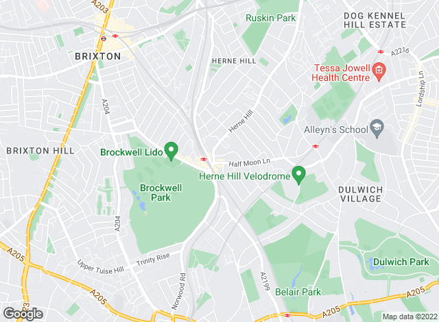 Map for burnetware, Herne Hill - Lettings