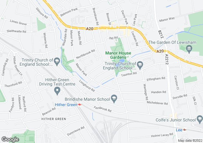 Map for Chalcroft Road, Hither Green, SE13