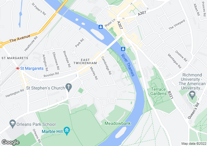 Map for CRESSWELL ROAD, EAST TWICKENHAM