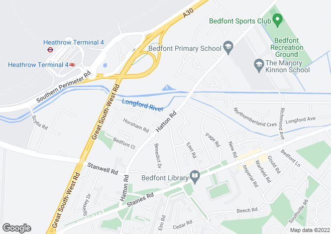 Map for Hatton Road  Feltham
