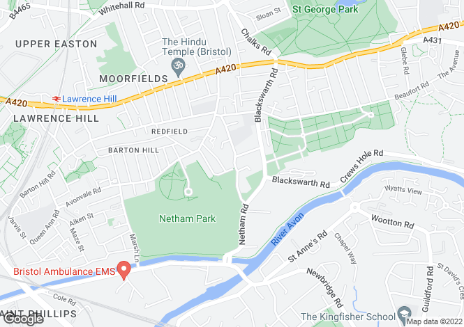 Map for Park View, Redfield, Bristol