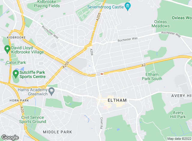 Map for Harrison Ingram, Eltham