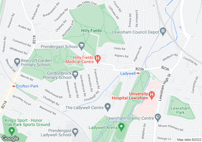 Map for Ladywell Road, Ladywell, London