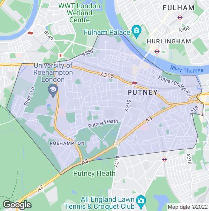 Map of property in Putney