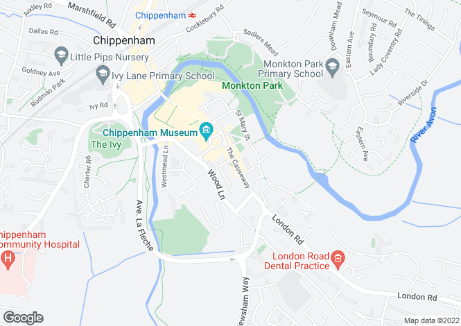 Map for The Causeway, Chippenham
