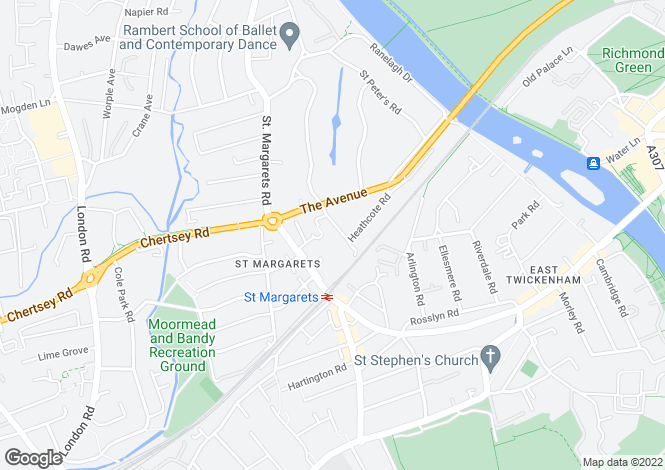 Map for Cassilis Road, Twickenham, TW1