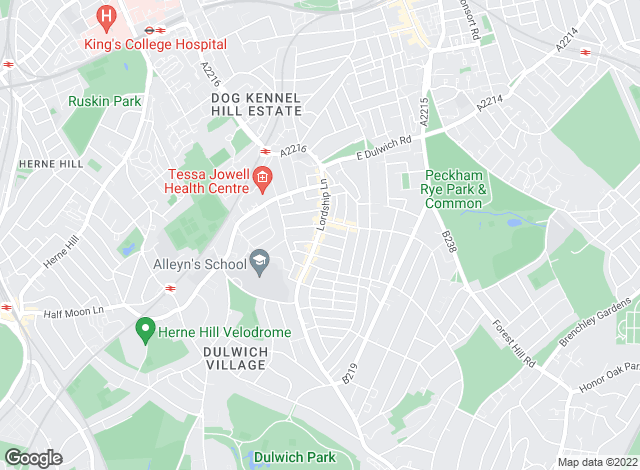 Map for Winkworth, Dulwich