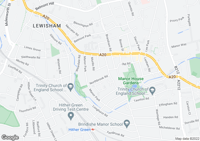 Map for Murillo Road, Lewisham, London, SE13