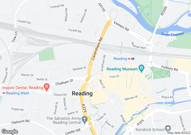 Map for Vachel Road,