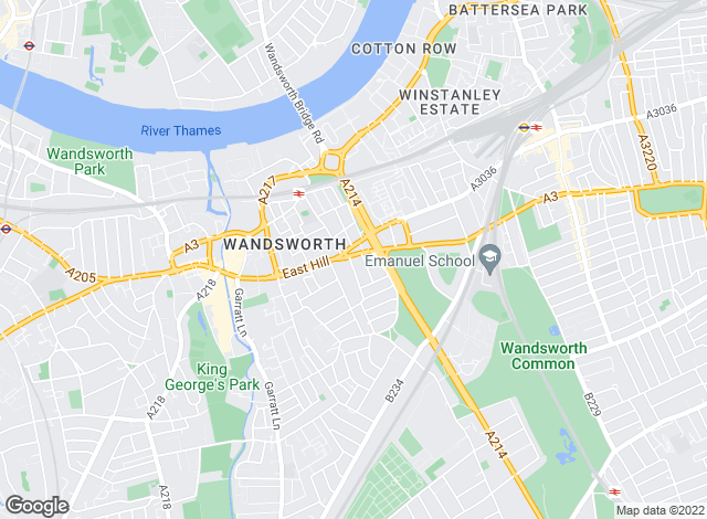 Map for Savills, Wandsworth