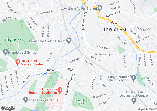 Map for Curness Street, Lewisham, London, SE13 6JY