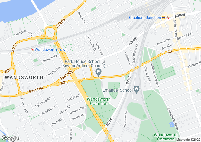 Map for Elsynge Road, Wandsworth, London SW18 2HR