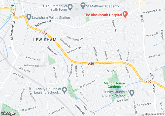 Map for Celestial Gardens Lewisham SE13