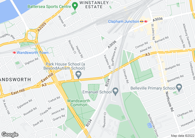 Map for Spencer Road, Wandsworth, London SW18 2SW