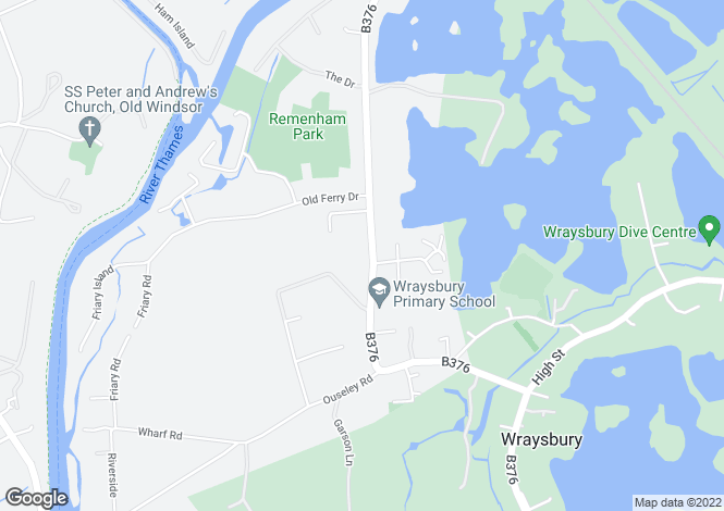 Map for Welley Road, Wraysbury, Staines, Berkshire, TW19