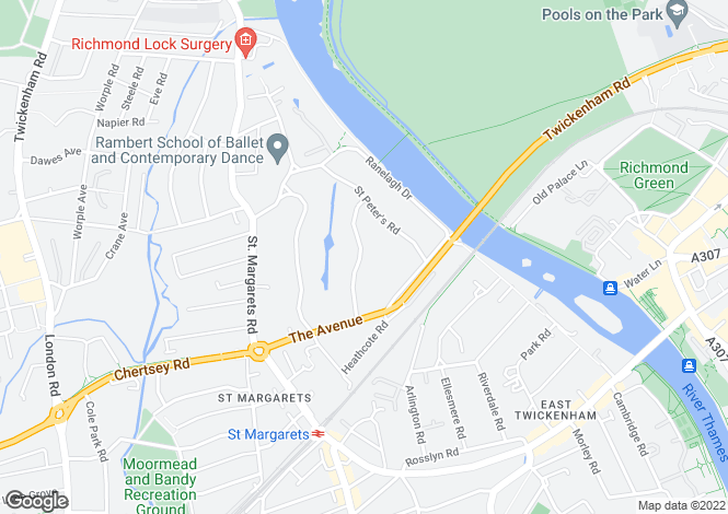 Map for St. Georges Road, St. Margaret's, Twickenham TW1 1QS
