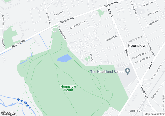 Map for Blackburn Way, HOUNSLOW