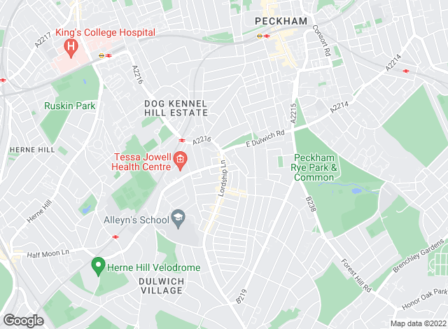 Map for Pedder, East Dulwich