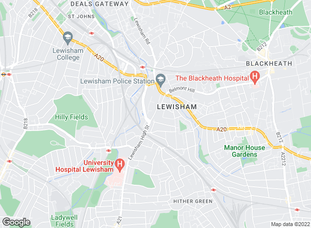 Map for Mark Beaumont.com, Lewisham