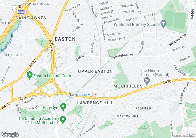 Map for Brixton Road, Easton