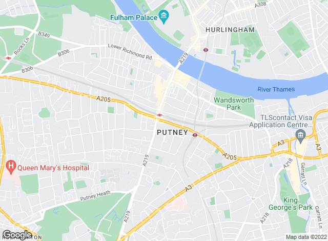 Map for Savills, Putney
