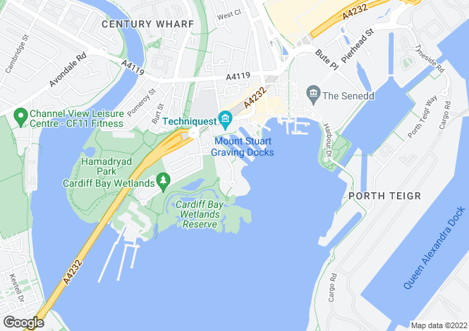 Map for Ocean Reach, Cardiff Bay, Cardiff