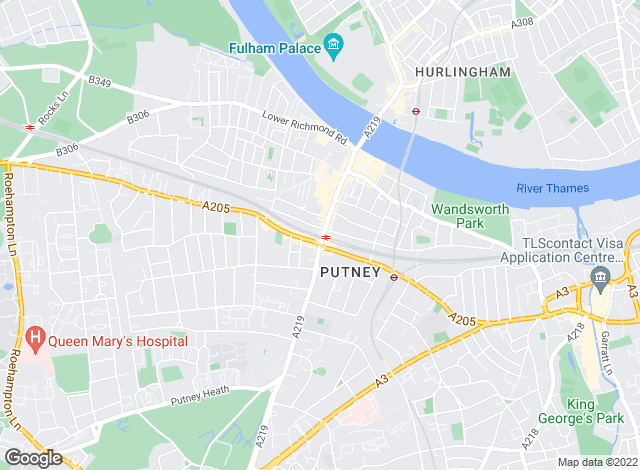 Map for Brinkley's Estate Agents, Putney