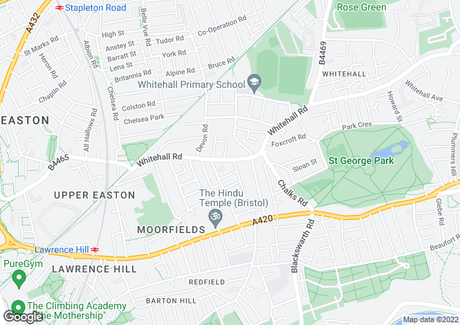 Map for Whitehall Road,