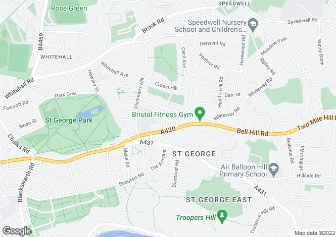 Map for Orchard Road,
