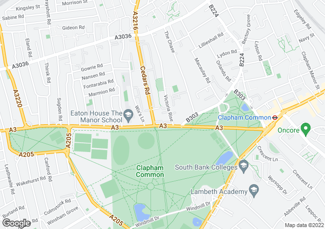 Map for Victoria Mews, Clapham Common, London, Greater London, SW4