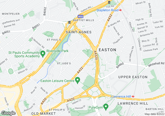 Map for Armoury Square, Easton