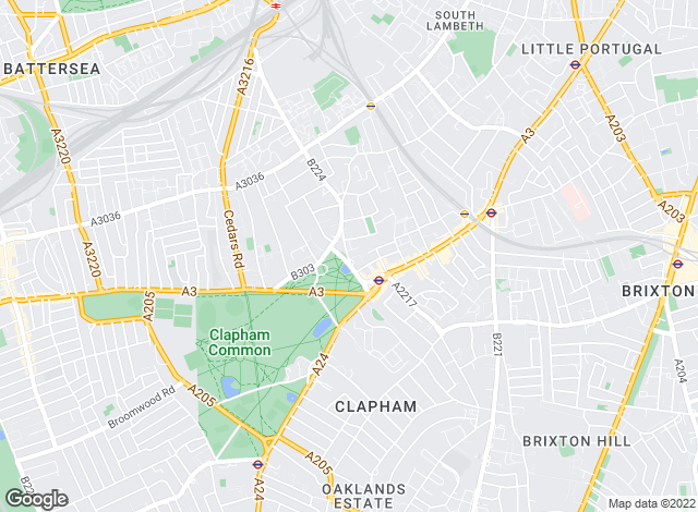 Map for Hamptons International Sales, Clapham