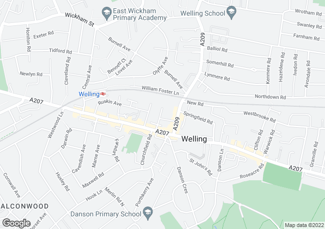 Map for Edmund Road, Welling, DA16