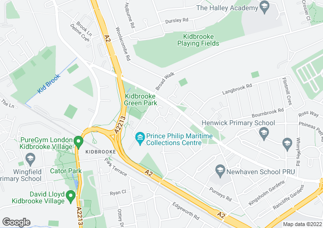 Map for Hither Farm Road, London SE3 9QT