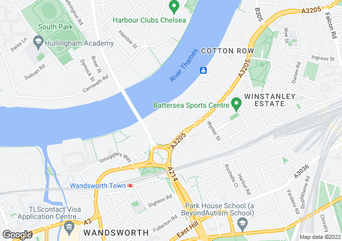 Map for Commodore House, Wandsworth, SW18