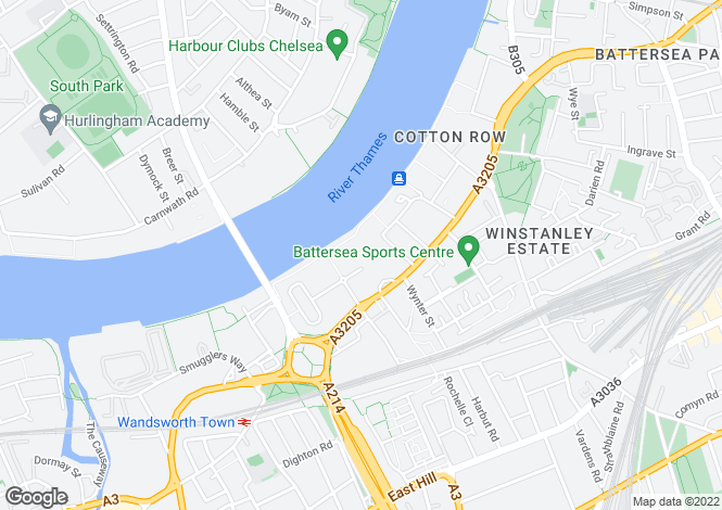 Map for Battersea Reach, Battersea