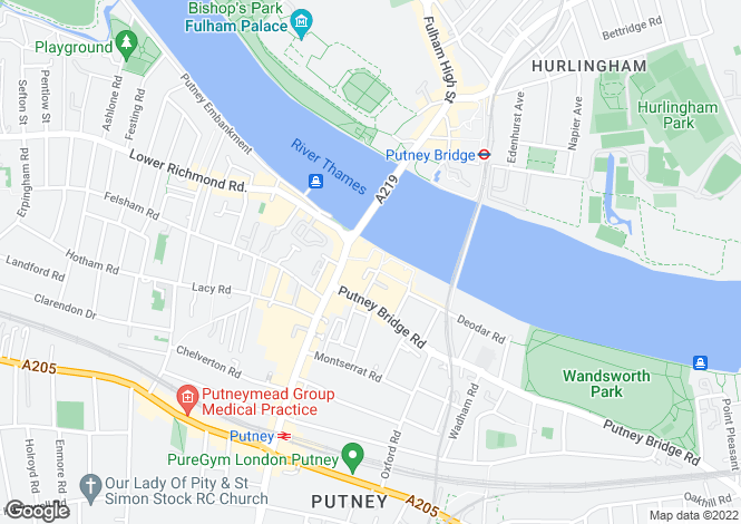 Map for Putney Wharf Tower, SW15