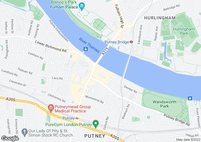 Map for Brewhouse Lane, Putney